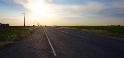 Sunrise on Texas State Highway 217