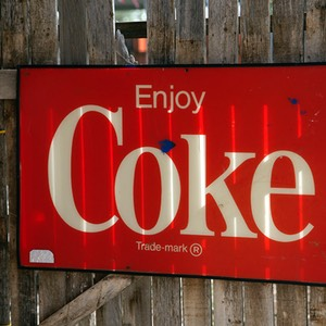 05 Coke Sign at Rooster's, Vega, Texas