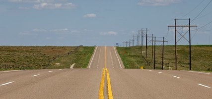 Empty Road, US Route 64, Oklahoma