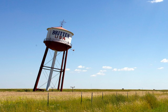 32 Britten Leaning Water Tower, Groom, Route 66, Texas