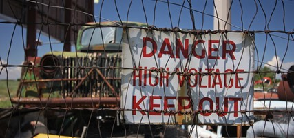 Auto Wrecking and Salvage, Danger High Voltage, Roswell, NM