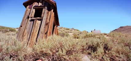 Outhouse, Bodie Ghost Town, California