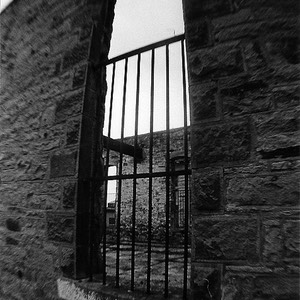 Barred window at Idaho State Penitentiary