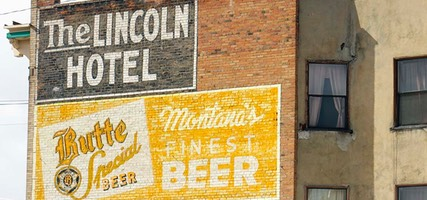 Day 8: Ghost Sign, The Lincoln Hotel, Butte, Montana