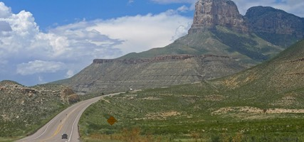 Guadalupe Mountains from US Route 62/180, TX