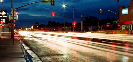 Light Trails, Laramie, Wyoming