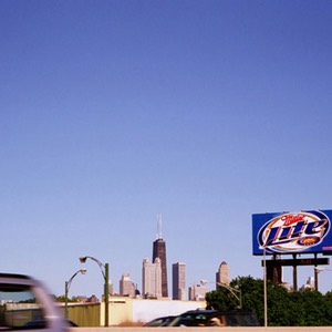 Miller Lite Sign with Hancock Building in the background, Chicago