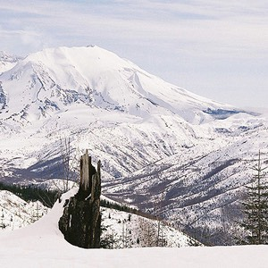 Mount St Helens in the Snow