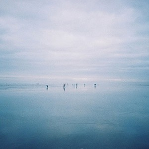Distant Figures - Afternoon on the Beach at Seaside, Oregon