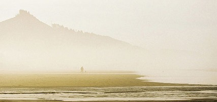 Walking The Dog in the Afternoon Mist, Seaside, Oregon