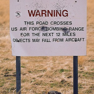Warning - US Air Force Bombing Range